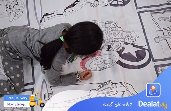 Girls Coloring Banner - DealatCity Store