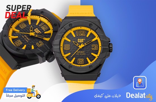 CAT SPIRIT II YELLOW Men Watch - DealatCity