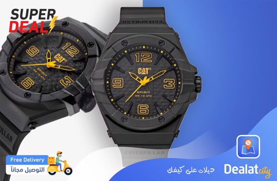CAT SPIRIT II BLACK YELLOW Men Watch - DealatCity