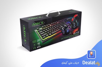 iMice Gk-47 Combo 4 in 1 ( Headset + Mouse + Keyboard + Mouse pad) - DealatCity Store