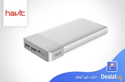 Havit Hv-Pb8805 10000Mah Qc3.0 High Conversion Rate Power Bank With LCD Screen - DealatCity Store
