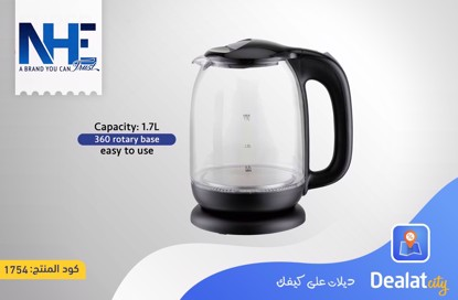 NHE Glass Kettle Boiler NH1719 - DealatCity Store