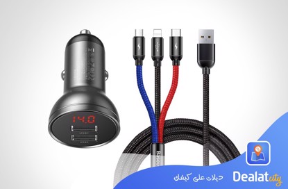 BASEUS 4.8A CAR CHARGER - DealatCity Store