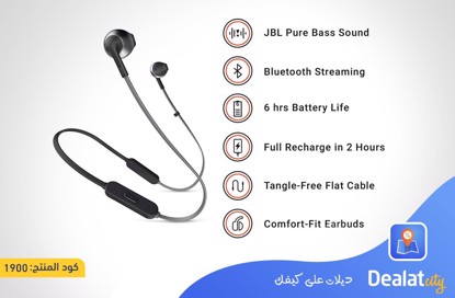 JBL T205BT Bluetooth Earphone - DealatCity Store