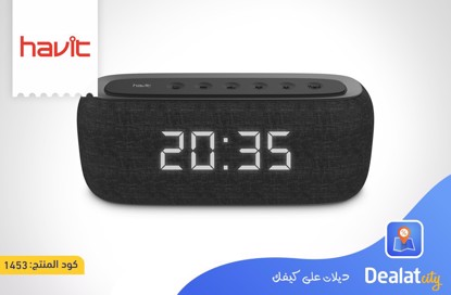 HAVIT M29 Bluetooth Speaker with Radio and Clock - DealatCity Store