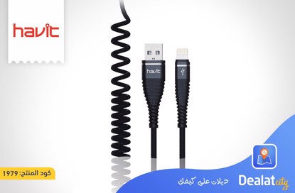 HAVIT H684 USB to Lightning Spring Cable - DealatCity Store