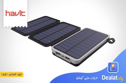 Havit H522I Solar Powered Power Bank 10,000 mAh - DealatCity Store