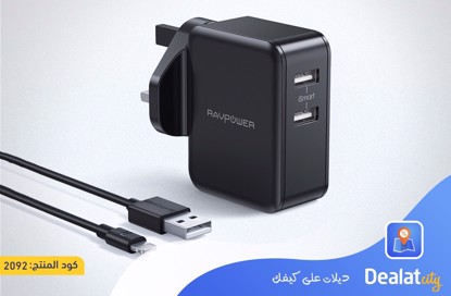 RAVPower RP-PC119 RAVPower Prime 24W Dual USB Wall Charger -  DealatCity Store