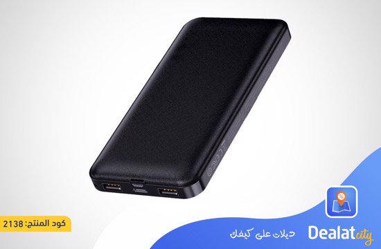 Rock P86 Power Bank 10000mAh 2 USB Port - DealatCity Store