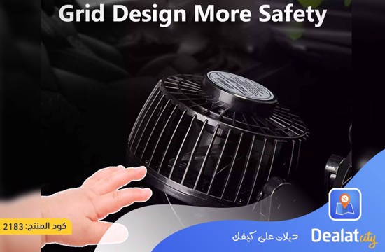 360 Degree Rotatable Car Fan - DealatCity Store